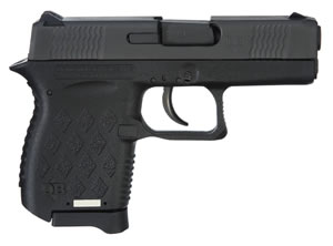 Diamondback DB9NS Pistol, 9 mm, 3 in, Black Rubber Grip, Black Finish, 6 + 1 Rd, Night Sights
