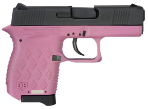 Diamondback DB9HP Pistol, 9 mm, 3 in, Pink Polymer Grip, Black Finish, 6 + 1 Rd