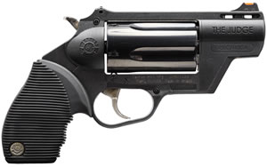 Taurus Judge 45/410 Public Defender Revolver 2441021PFS, 410/45 Long Colt, 2 in, Poly Grip, Blue Finish, 5 Rd