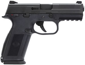 FN Herstal FNS40 Pistol 66946, 40 S&W, 4 in, Polymer Grip, Black Finish, 10+1 Rd, Night Sights