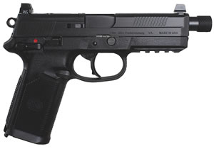 FN Herstal FNX-45 Tactical Pistol 66966, 45 ACP, 5.3 in, Poly Grip, Black Finish, 15 + 1 Rd, Night Sights