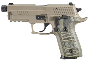 Sig Sauer P229 Scorpion TB Pistol E29R9SCPNTB, 9mm, 4.3 inch Threaded BBL, Single/Double, Flat Dark Earth Grips, Night Sights, FDE Finish, 15+1 Rds