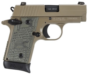 Sig Sauer Model P238 Scorpion Pistol 238380SCPN, 380 ACP, 2.7 in, Flat Dark Earth Finish, 6 + 1 Rd