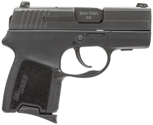 Sig Sauer Model P290 Pistol 290RS9BSS, 9 mm, 2.9 in, Interchange Poly Grip, Black Finish, 6 + 1 Rd/8 + 1 Rd, Night Sights