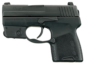 Sig Sauer Model P290 Pistol 290RS9BSSL, 9 mm, 2.9 in, Interchange Poly Grip, Black Finish, 6 + 1 Rd/8 + 1 Rd, Laser