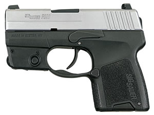 Sig Sauer Model P290 Pistol 290RS9TSSL, 9 mm, 2.9 in, Interchange Poly Grip, 2 Tone Finish, 6 + 1 Rd/8 + 1 Rd, Laser