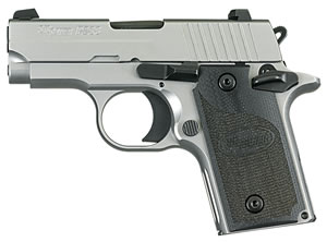 Sig Sauer Model P238 Pistol 238380HDCA, 380 ACP, 2.7 in, G10 Composite Grip, Stainless Finish, 6 + 1 Rd, Night Sights, CA Approved Model
