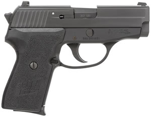 Sig Sauer Model P239 Pistol 239357BCA, 357 Sig, 3.6 in, Black Poly Grip, Black Finish, 7 + 1 Rd, CA Approved, Contrast Sights