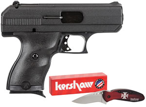 Hi Point Model C-9 Pistol 916HCKNIFE, 9mm, 3.5 in, Easy Grip, Finish, 8 + 1 Rds, w/Case & Knife
