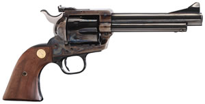 Colt New Frontier Revolver P4840, 45 Colt, 4.75 in, Walnut Grip, Royal Blue Finish, 6 Rd