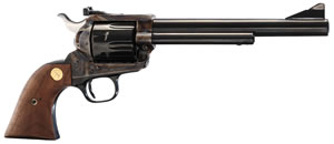 Colt New Frontier Revolver P4870, 45 Colt, 7.5 in, Walnut w/Gold Grip Screws & Medallion Grip, Blue Finish, 6 Rd