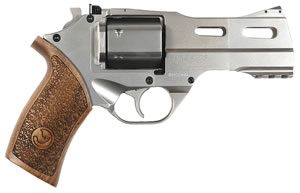 Chiappa Rhino Revolver 340075, 357 Rem Mag, 4 in, Wood Grip, Nickel Finish, 6 Rd