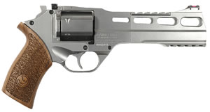 Chiappa Rhino Revolver 340077, 357 Rem Mag, 6 in, Wood Grip, Nickel Finish, 6 Rd