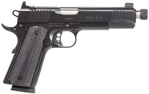 Remington 1911 R1 Pistol  96339, 45 ACP, 5 in, Checkered Grip, Black Finish, 8+1, Threaded BBL