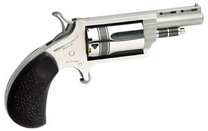 North American Arms Revolver 22MGRC, 22 Magnum, 1.12 in, Rubber Grip, Stainless Finish, 5