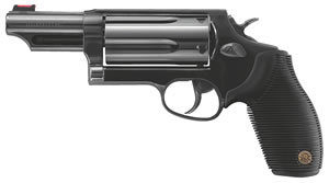 Taurus The Judge Tracker Magnum Revolver 2441061MAG, 410/45 Long Colt, 6.5 in BBL, Ribber Grip Overlay Grip, Blued Finish, 5 Rds