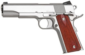 Dan Wesson 1911 Razorback RZ10 Pistol 01907, 10mm, 5 in, Cocobolo Grip, Stainless Finish, 9+1