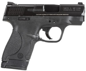 Smith & Wesson M&P Shield MA Compliant Pistol 180051, 9mm, 3.1 in, Polymer Grip, Black Finish, 8+1