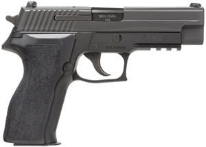 "Sig Sauer P226 Pistol 226RM-9-BSS, Full Size, 9 mm, 4.4"" Barrel, DA/SA, Ergo Grips, Nitron Slide/Black Anodized Frame Finish, 10 + 1 Rd, w/ SIGLITE Night Sights, MA Compliant"