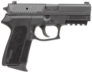 Sig Sauer Model SP2022 Pistol SP2022M9BSS, 9mm, 3.9 in, Polymer Grip, Black Finish, 10+1, Night Sights, MA Model