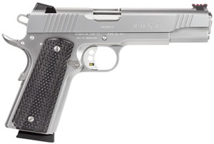 Remington 1911 R1 Enhanced Pistol  96329, 45 ACP, 5 in, Checkered Grip, Stainless Finish, 8+1, SPC, FO