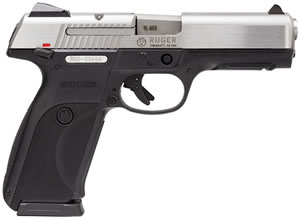 Ruger KSR45 Pistol 3801, 45 ACP, 4.5 in, Black Grip, Stainless Finish, 10+1 Rd