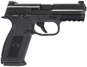 FN Herstal FNS9 Pistol 66925, 9 mm, 4 in, Polymer Grip, Black Finish, 17+1 Rd