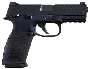 FN Herstal FNS9 Pistol 66929, 9 mm, 4 in, Polymer Grip, Black Finish, 10+1 Rd