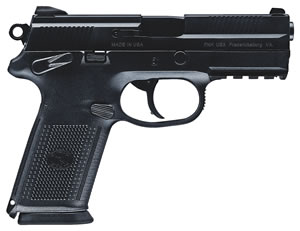 FN Herstal FNX-45 USG Pistol 66961, 45 ACP, 4 in, Poly Grip, Black Finish, 10 + 1 Rd