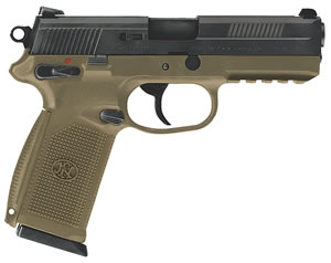 FN Herstal FNX-45 USG Pistol 66965, 45 ACP, 4 in, Poly Grip, Flat Dark Earth/Black Finish, 10 + 1 Rd