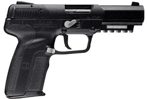 FN Herstal Five-Seven MKII Pistol 3868929300, 5.7X28 mm, 4.75 in, Polymer Grip, Black Finish, 20+1 Rd