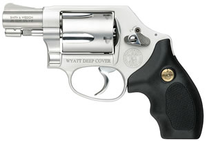 Smith & Wesson Model 637 Wyatt Deep Cover Gunsmoke Revolver 170347, 38 Special, 1.87 in, Black Finish, 5 Rd
