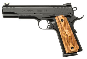 Chiappa 1911 Custom Pistol 440030, 45 ACP, 5 in, Chkd Wood Grip, 8+1 Rd