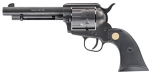 Chiappa Single Action Army Revolver CF340160, 22 Long Rifle, 5.5 in, Black Chkd Grip, Black Finish, 10 Rd