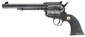 Chiappa Single Action Army Revolver CF340170, 22 Long Rifle, 7.5 in, Black Chkd Grip, Black Finish, 10 Rd