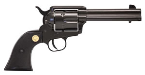 Chiappa Single Action Army Revolver CF340160D, 22 Long Rifle/22 Mag, 5.5 in, Black Chkd Grip, Black Finish, 10 Rd
