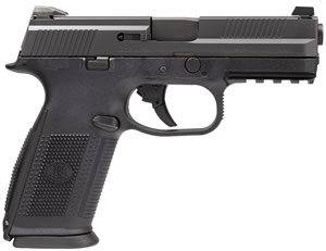 FN Herstal FNS-9 Pistol 66752, 9 mm, 4 in BBL, Double Action, Poly Grip, Black Finish, 3-Dot Sights, No Manual Safety, 17+1 Rds