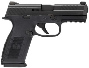 FN Herstal FNS-40 Pistol 66764, 40 S&W, 4 in BBL, Double Action, Poly Grip, Black Finish, 3-Dot Sights,No Manual Safety, 10+1 Rd