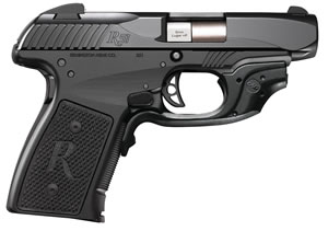 Remington R51 Pistol 96432, 9mm +P, 3.4 inch BBL, Single, Black Polymer Grips, Black Finish, w/Crimson Trace Laserguard Sights, 6+1 Rds