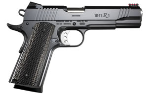 Remington 1911 R1 Enhanced Pistol 96364, 9mm, 5 in, Dark Laminate Grip, Black Finish, 9+1 Rd