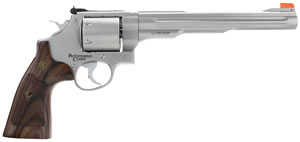 "Smith & Wesson Model 629 Performance Center Revolver 170334, 44 Rem Mag, 8.375"" BBL, SA/DA, Custom Wood Grips, Stainless Finish, 6 Rd"