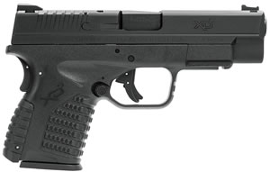 "Springfield Armory XDS 4.0 Single Stack Pistol XDS9409B, 9mm, 4"" BBL, Dbl Act, Black Polymer Grips, Black Finish, 7+1/9+1 w/ X-Tension"