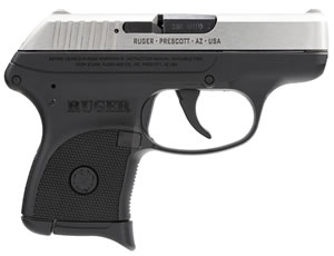 Ruger LCP Pistol 3730, 380 ACP, 2.75 in, Integral Grip, Black Finish, 6+1