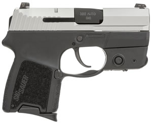 Sig Sauer P290RS SubCompact Pistol 290RS380TSSL, 380 ACP, 2.9 inch BBL, Double Act Only, Intg Polymer Grips, Night Sights, TwoTone Finish, 6+1 Rds, w/Laser