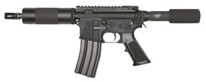 "Bushmaster Patrolman AR Pistol 91026, 223 Rem/5.56 NATO, 7.0"" BBL, Semi-Auto, Pistol Grip, No Sights, Black Finish, 30+1 Rds"