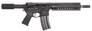 "Bushmaster Enhanced Patrolman AR Pistol 91022, 223 Rem/5.56 NATO, 10.5"" BBL, Semi Auto, Pistol Grip, No Sights, Black Finish, 30+1 Rds"