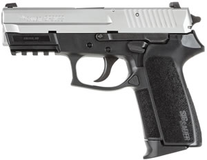 Sig Sauer SP2022 TwoTone Pistol E202240TSS, 40 S&W, 3.9 inch BBL, Single/Double, Polymer Grips, Night Sights, TwoTone Finish, 12+1 Rds