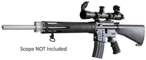 Armalite Model 15A4TBN Rifle, 223 Remington, Semi-Auto, 20in, Black Syn Stock, Blue Finish, 10 + 1 Rd