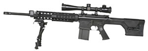 Armalite Model AR-10 Super SASS Rifle 10SBF, 308 Win, 20 in BBL, Semi-Auto, Magpul PRS Stock, Black Finish, Flat Top, 20 Rd, Armalite Mags only