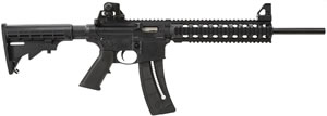Smith and Wesson Model M&P 1522 Rimfire Rifle 811030, 22 Long Rifle, Semi-Auto, 16 in, Collapsible Stock, Hard Coat Black Finish, 25+1 Rd